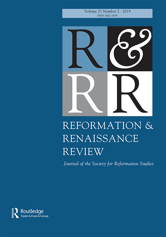 Reformation & Renaissance Review Volume 22, Issue 1, Now Available Online