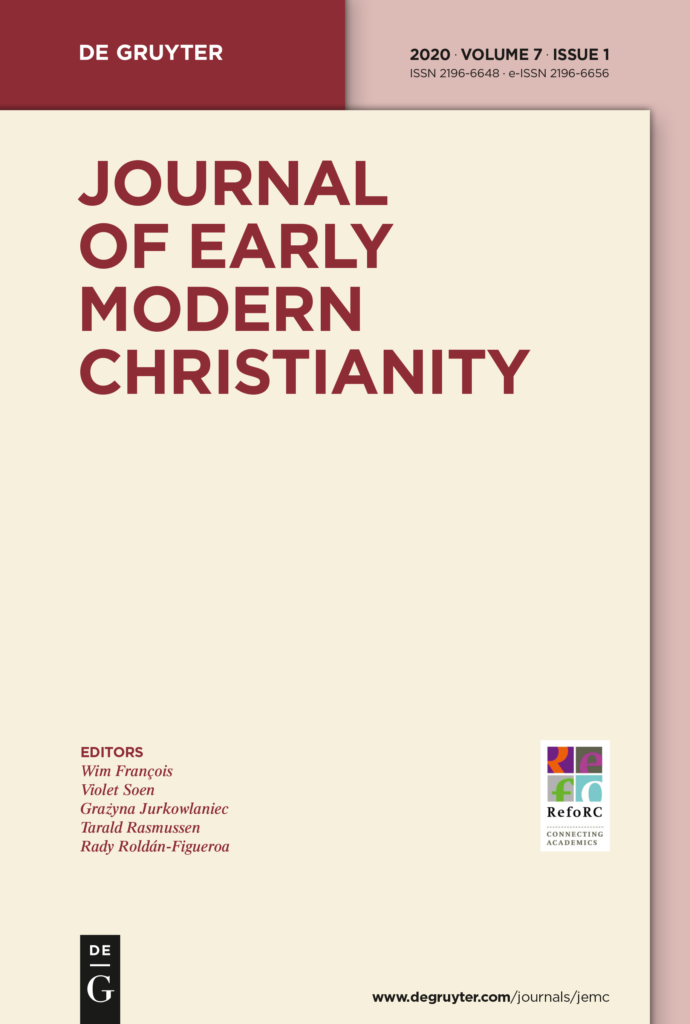 New Issue Journal of Early Modern Christianity